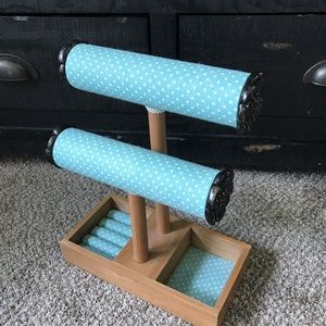 Other - NEW Jewelry Organizer Dresser Top Display Teal Dot